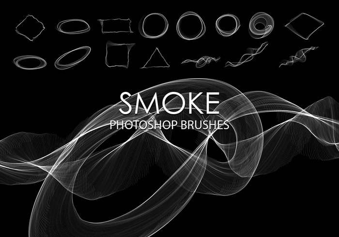 Free Abstract Smoke Pinceles de Photoshop 4