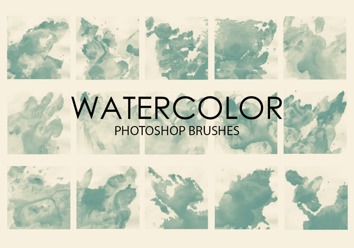 Free Watercolor Wash Pinceles para Photoshop 5