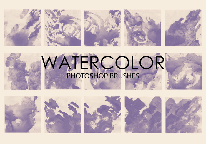Free Watercolor Wash Photoshop Brushes 4