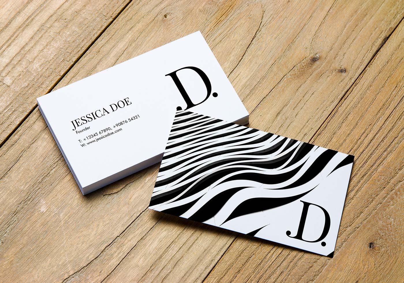 blank business card design mockup psd file free download - 1000×750