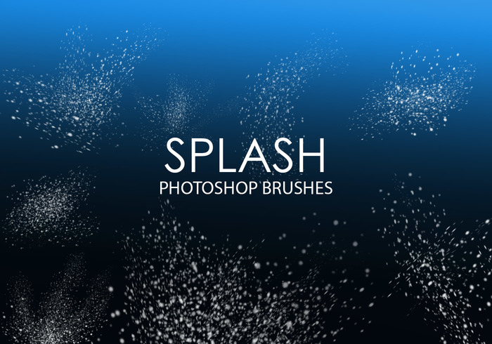 Gratis Splash Photoshop Borstels