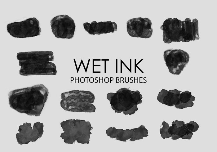 Free Wet Ink Photoshop Brushes 3