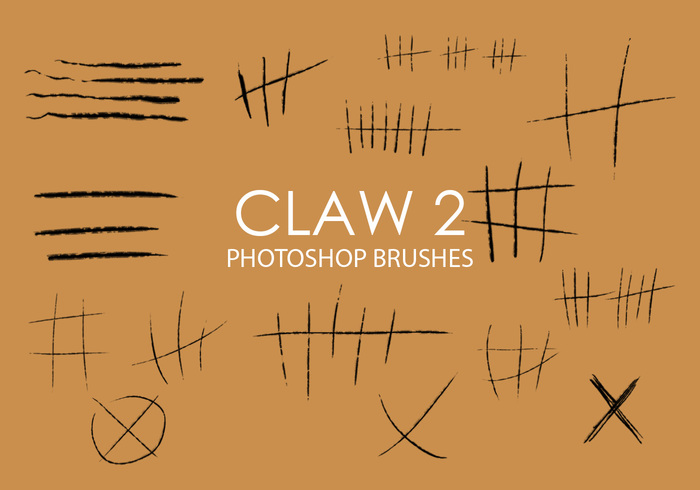 Gratis Claw Photoshop Borstels 2