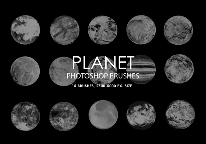 Free Abstract Planet Pinceles para Photoshop