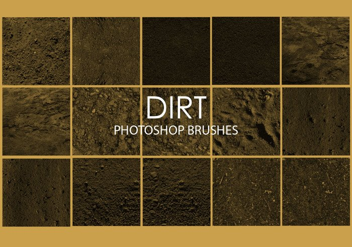 Free Dirt Pinceles para Photoshop