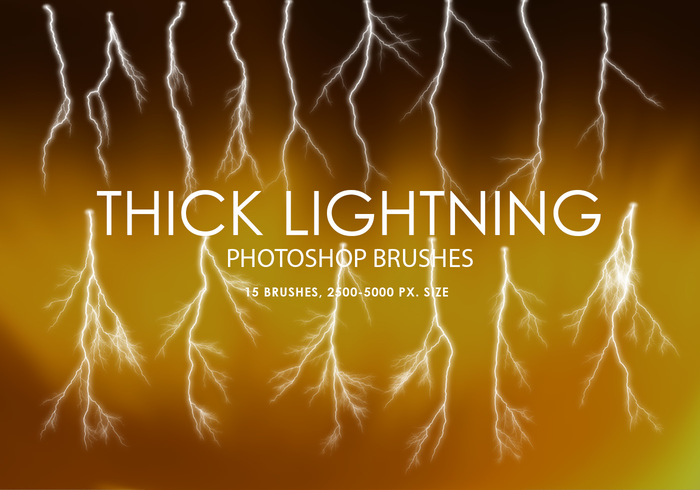 Free Thick Lightning Pinceles para Photoshop