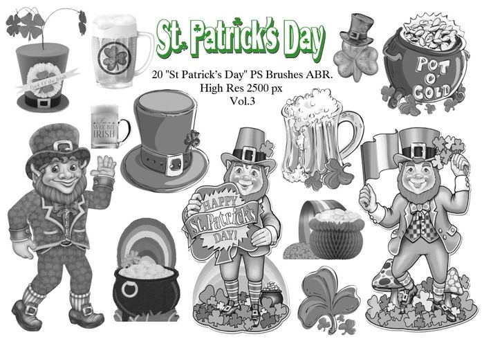 "20 ""St Patricks Day"" PS escova abr.Vol.3"