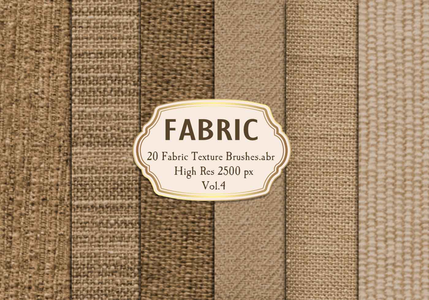 20 Fabric Texture Brushes Abr Vol 4 Free Photoshop
