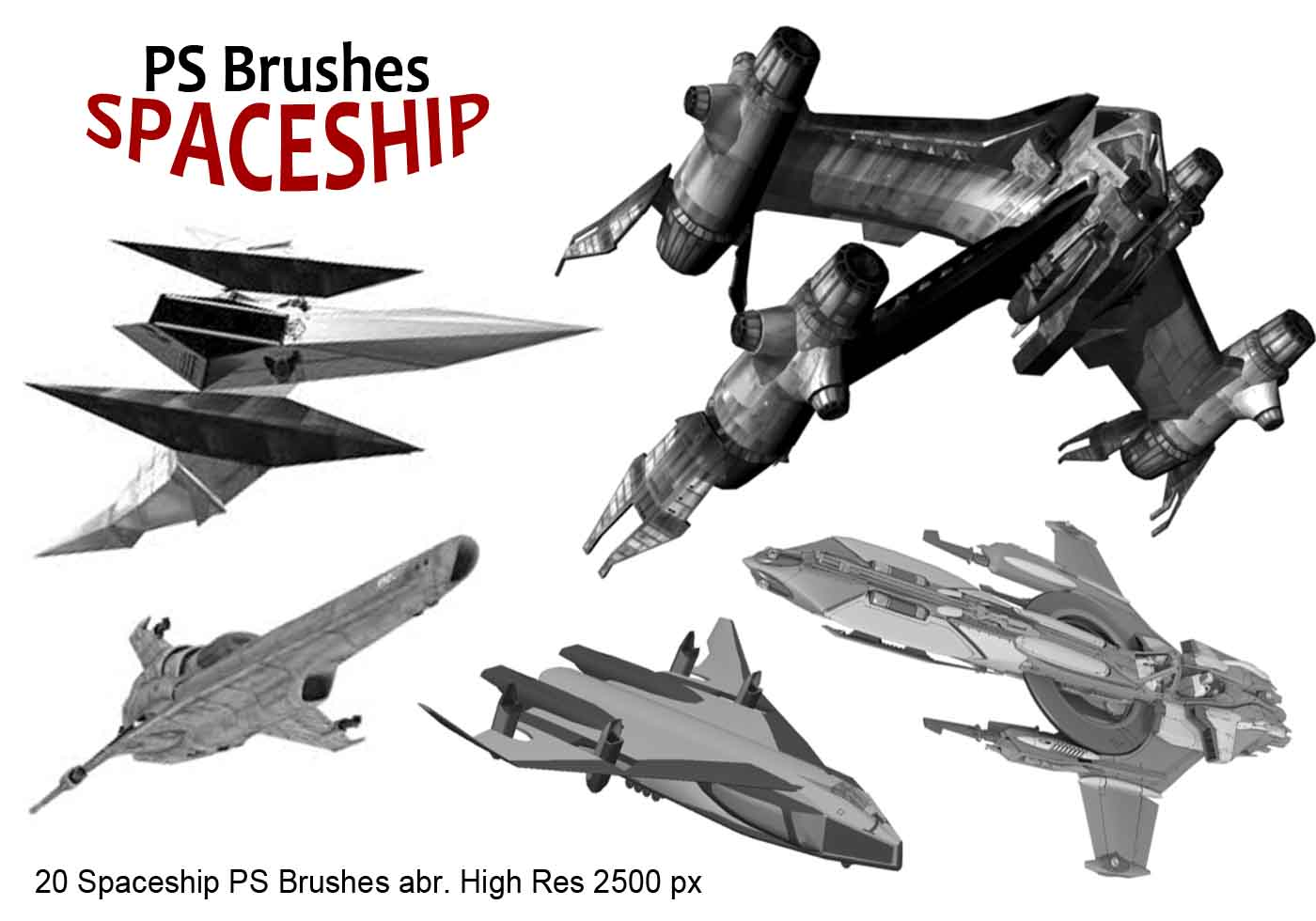 20 Spaceship PS Brushes Abr. Vol.1