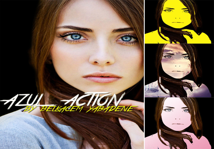Azul Photoshop Action Pack