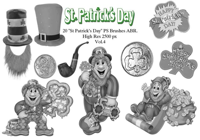 "20 ""St Patricks Day"" PS Brushes abr. Vol.4"