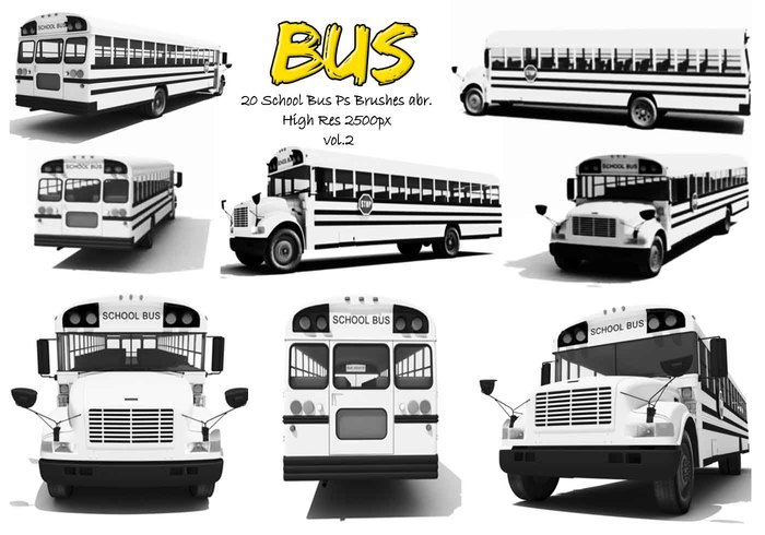 20 Autobús Escolar Ps Brushes vol.2