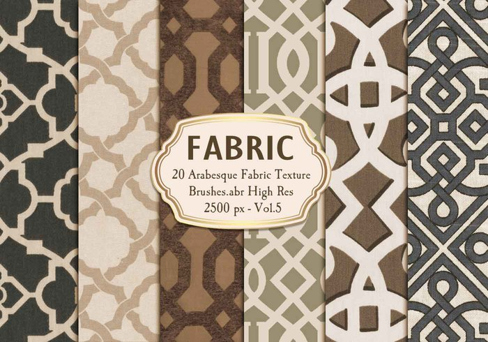 20 Arabische Fabric Texture Brushes.abr Vol.5