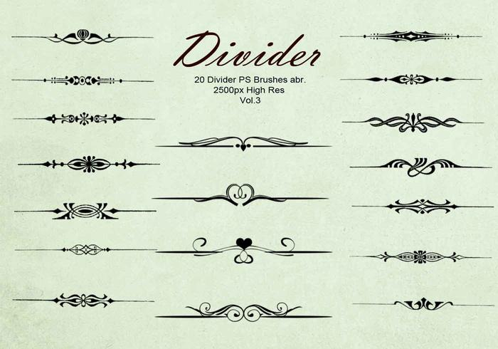 20 Divider Ps Brushes abr. vol.3