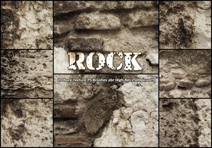 20 Rock Texture PS Brushes abr vol.9