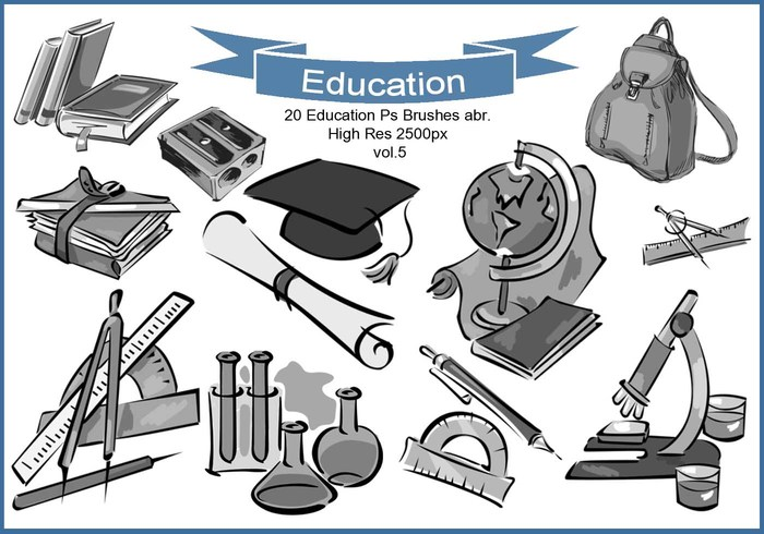 20 Educación Ps Brushes abr. Vol.5