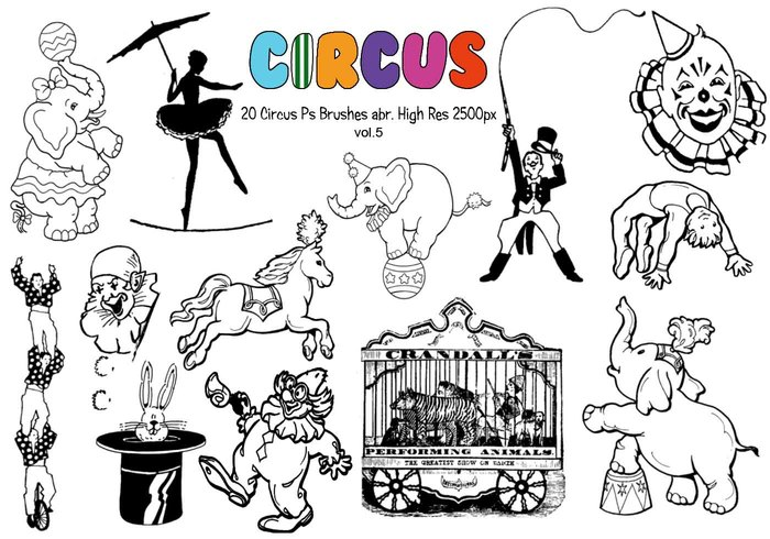 20 Circus Ps Brushes vol.5