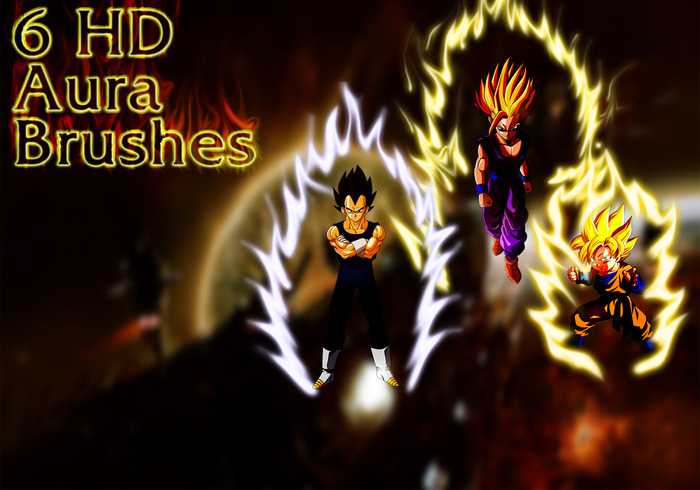 Dragon Ball Aura Brushes, Set 2