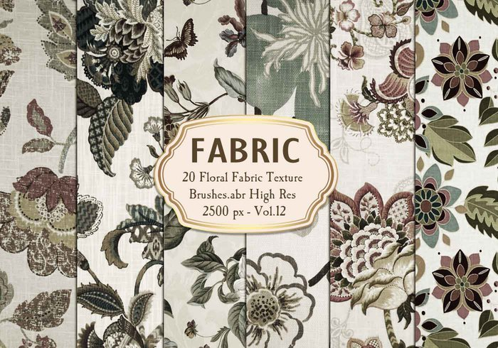 20 Floral Fabric Texture Brushes Vol.12
