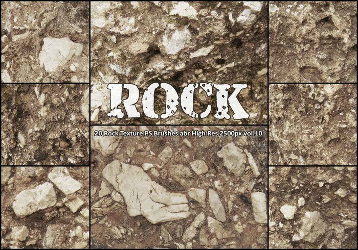 20 Rock Texture PS Bürsten abr vol.10