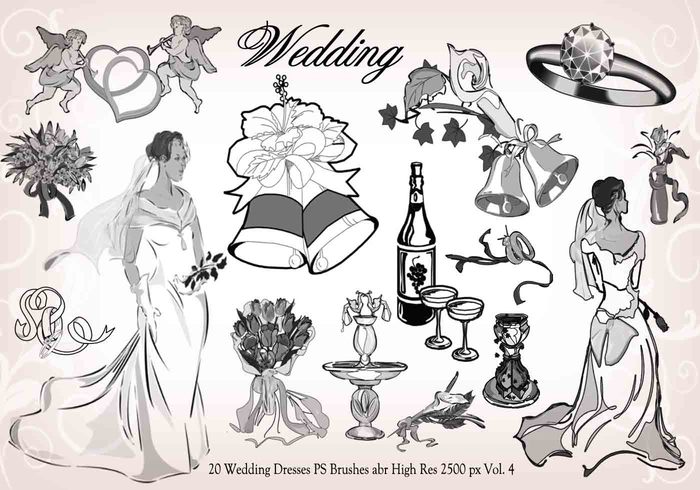 20 Wedding PS Brushes abr vol.4