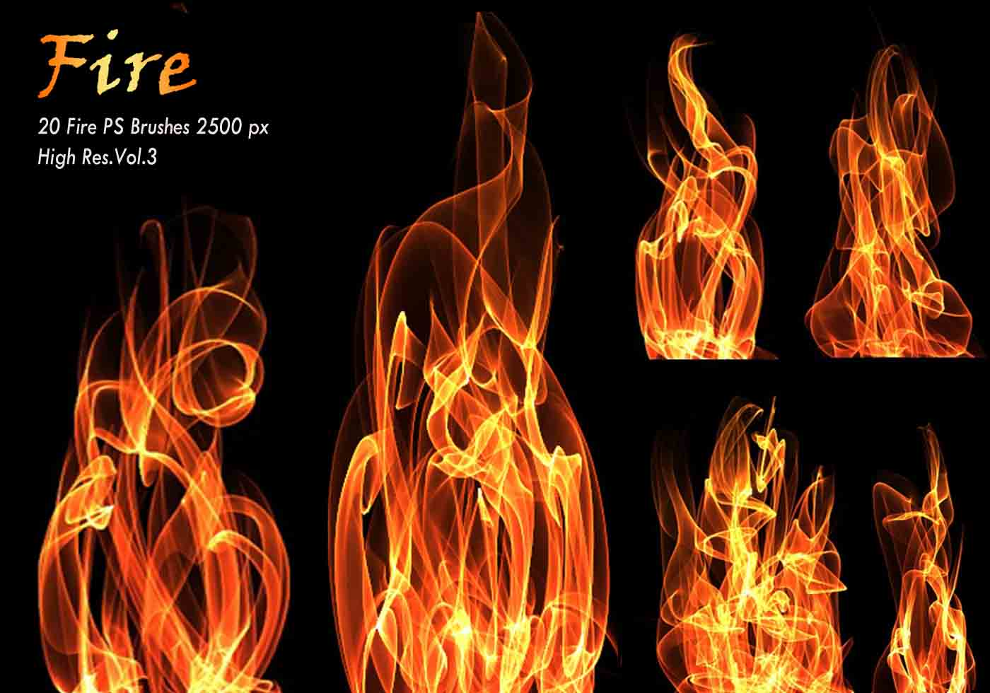20 Fire PS Brushes abr.Vol.3 - Free Photoshop Brushes at ...