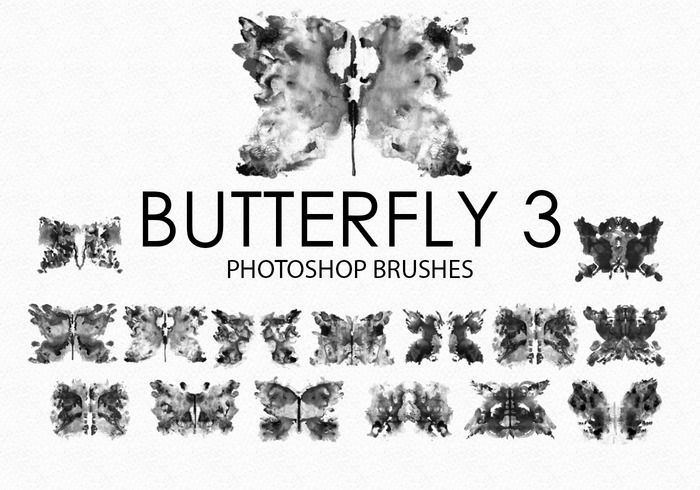 Free Watercolor Butterfly Photoshop Bürsten 3