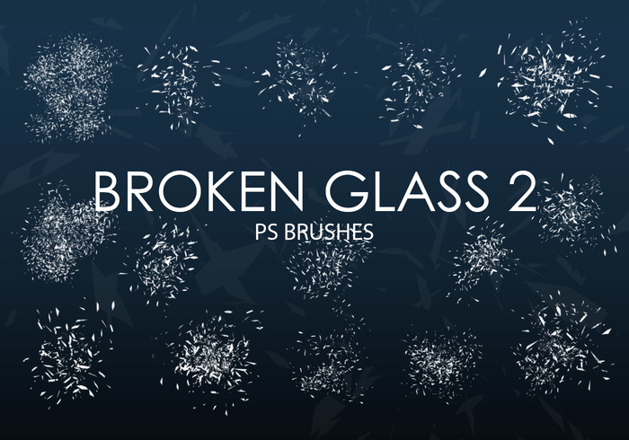 Free Broken Glass Photoshop Brushes 2