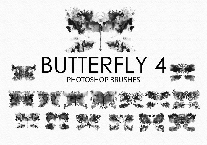 Free Watercolor Butterfly Photoshop Brushes 4