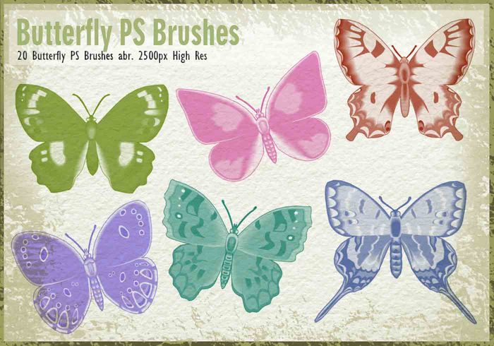 20 Butterfly PS Brushes abr.vol.6