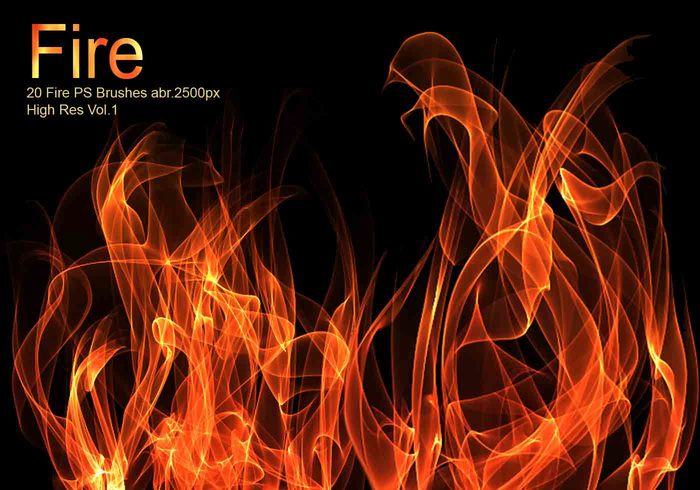 20 Fire PS Brushes abr.Vol.1