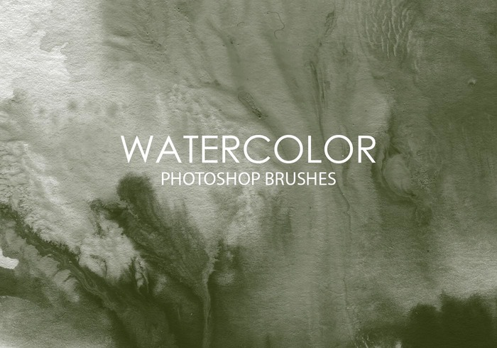 Free Watercolor Wash Pinceles para Photoshop 9
