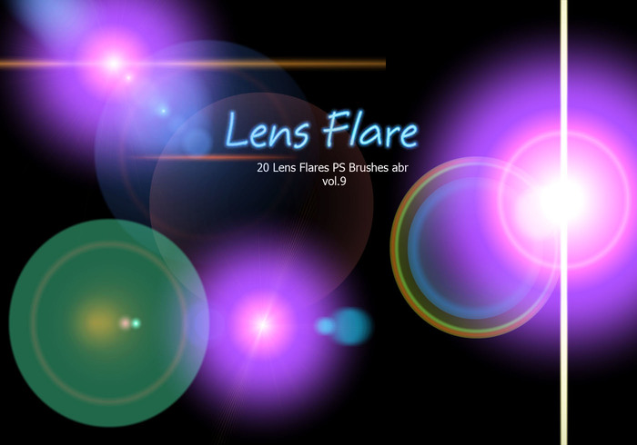 20 Lens Flares PS Brushes abr vol.9