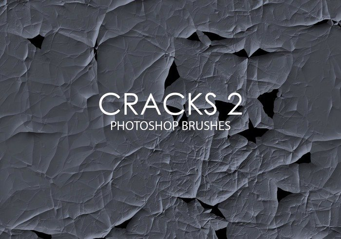 Free Abstract Cracks Photoshop Brushes 2
