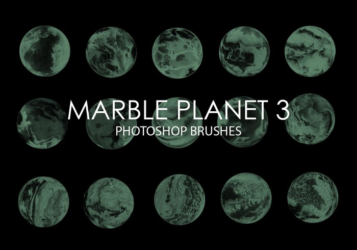 Gratis Marmeren Planet Photoshop Borstels 3