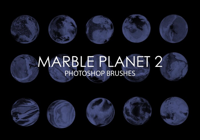 Gratis Marmor Planet Photoshop Borstar 2