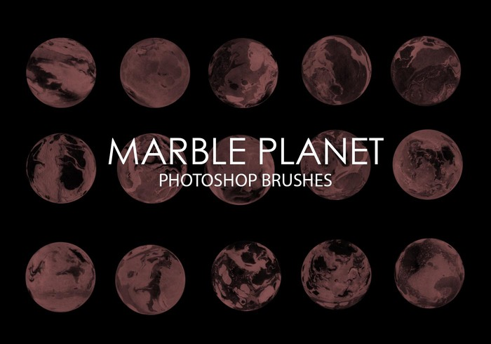 Gratis Marmor Planet Photoshop Borstar