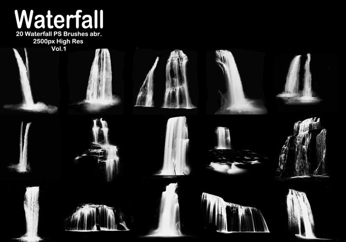 20 Waterfall PS Brushes abr. Vol.1