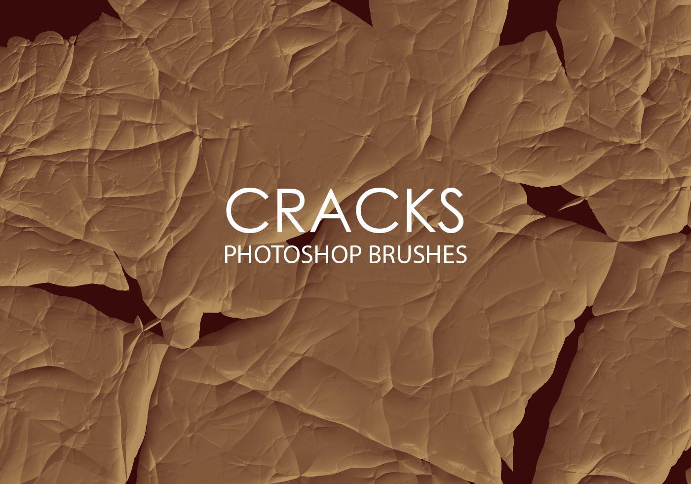 free abstract cracks photoshop brushes