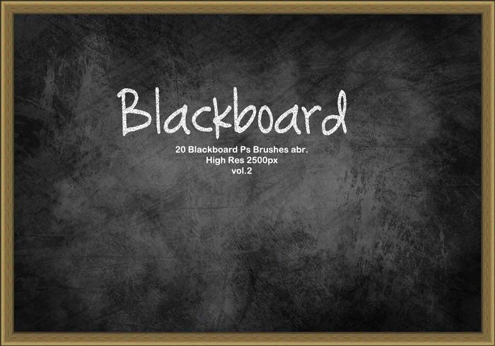 20 Blackboard Ps Brushes abr. vol.2