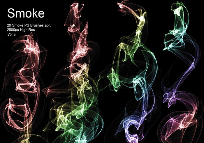 20 Smoke PS Brushes abr. Vol.5