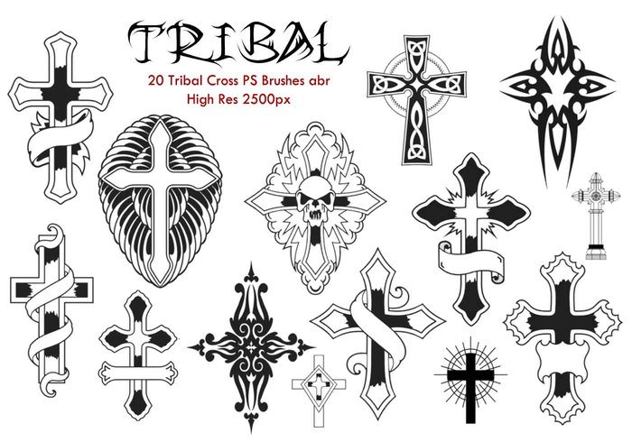 20 Tribal Cross PS Pinceles abr.