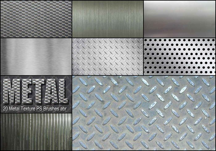 20 Metal Texture PS Brushes abr vol 2