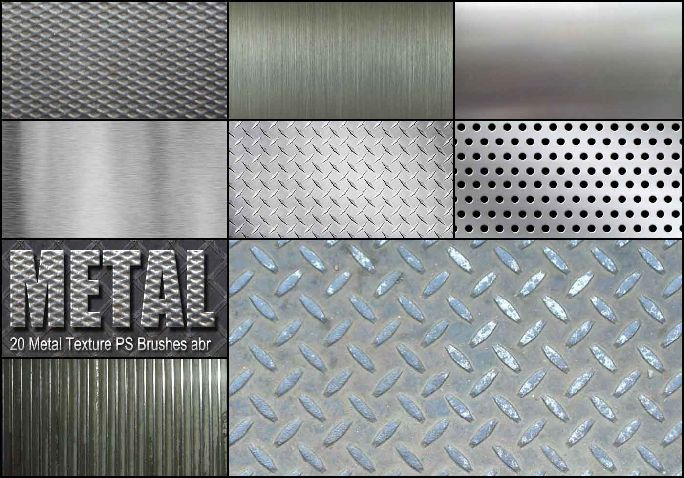 20 Metal Texture Ps Brushes Abr Vol 2 Free Photoshop