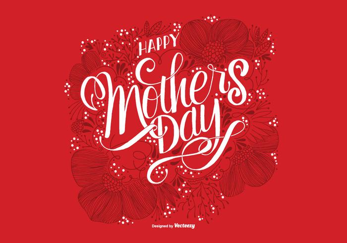 Hand Drawn Mother's Day Card PSD Background
