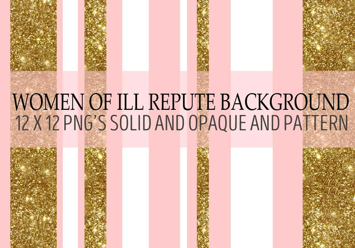 Women of Ill Repute Gold Glitter Background