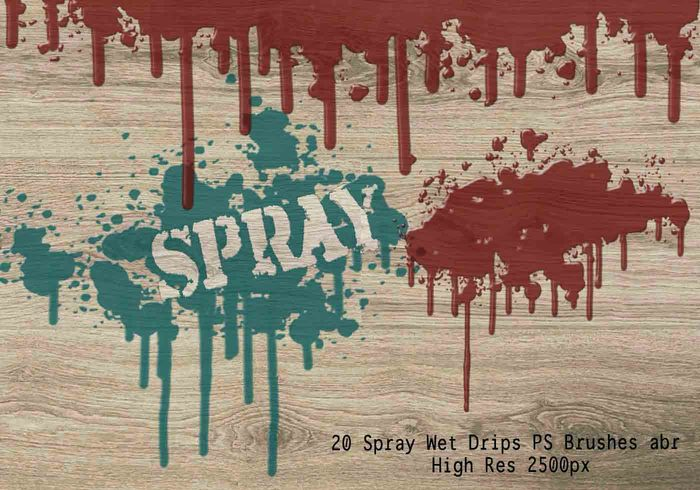 20 Spray Wet Druppels PS Borstels Vol.8