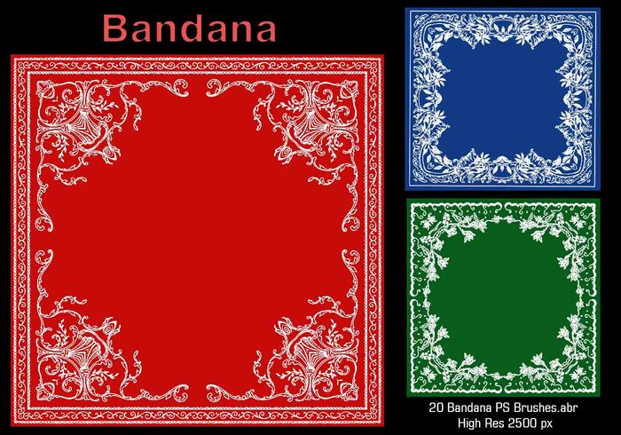 20 Bandana PS Brushes.abr