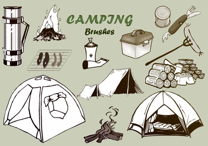 20 Camping PS Brushes abr. Vol.2