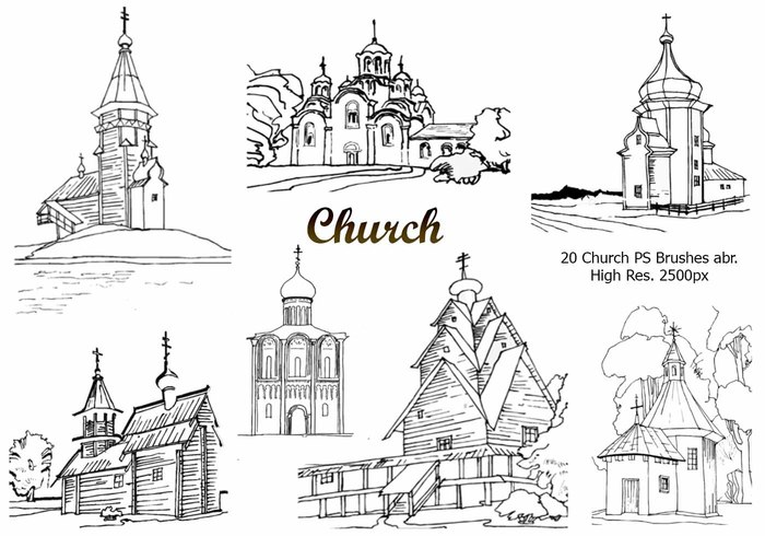 20 Church PS Brushes abr.vol.3